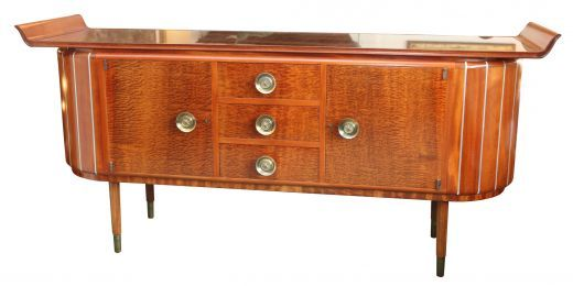ART DECO SIDEBOARDS CREDENZAS ART DECO SIDEBOARD CREDENZA (item #1246)