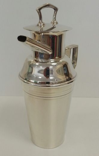 art deco silver ASPREY SILVER COCKTAIL SHAKER (item #1250)