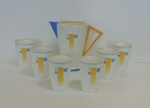 shelley art deco  Shelley Art Deco Geometric Lemonade Set (item #1269)