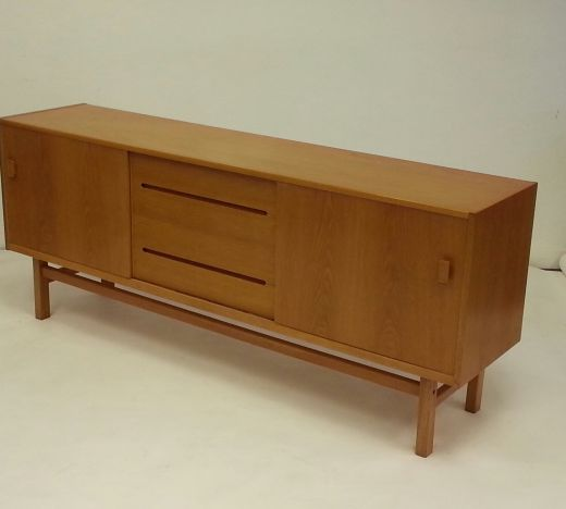 sideboard credenzas RARE MID 20TH CENTURY DESIGN OAK SIDEBOARD CREDENZA DESIGNED BY NILS JONSSON (item #1307)