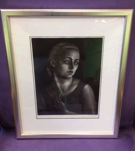 art deco art A SOUTHERN BLONDE BY DAME LAURA KNIGHT (item #1361)