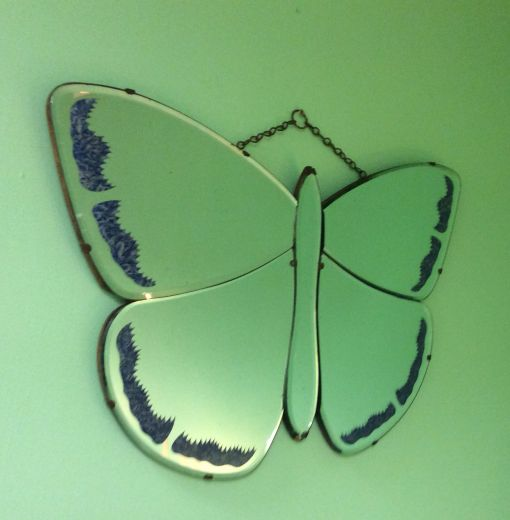art deco mirrors SUPERB ART DECO BUTTERFLY MIRROR (item #1363)