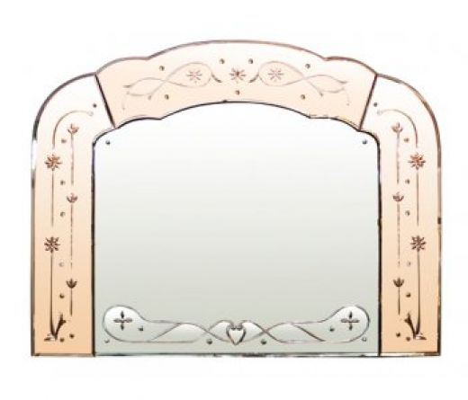 art deco mirrors ART DECO OVERMANTLE MIRROR (item #1376)