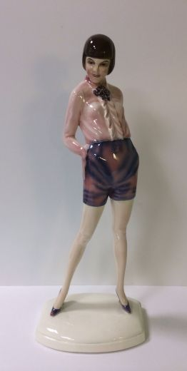 goldscheider ART DECO FIGURE (item #1385)