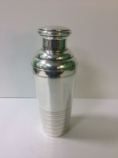 art deco silver ART DECO COCKTAIL SHAKER (item #1402)