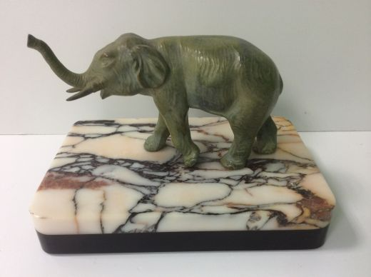 art deco sculpture ART DECO SCULPTURE OF AN ELEPHANT (item #1423)