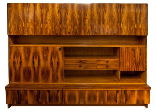SIDEBOARDS CREDENZAS ROBERT HERITAGE WALL ILLUMIATED STORAGE UNIT (item #1443)