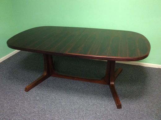 dinning tables ROSEWOOD EXTENDABLE DINING TABLE BY NIELS KOEFOEDS HORNSLET (item #1495)