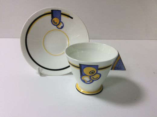 shelley vogue SHELLEY ART DECO COFFEE CUP AND SAUCER (item #1501)