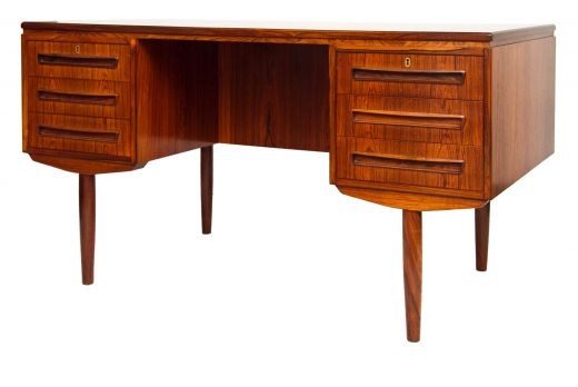 desks MID TWENTIETH CENTURY DESIGN DANISH ROSEWOOD DESK BY J SVENSTRUP (item #1523)