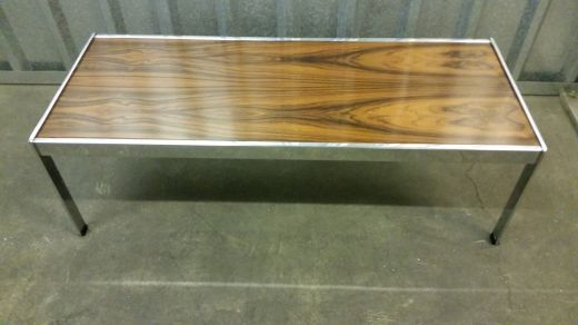 tables MERROW ASSOCIATES ROSEWOOD AND CHROME OCCASIONAL TABLE (item #1524)