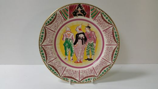 Clarice Cliff LAURA KNIGHT CIRCUS PLATE BY CLARICE CLIFF (item #1604)