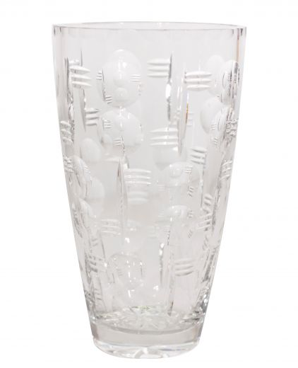 art deco glass WEBB CORBETT ART DECO CRYSTAL VASE (item #1607)
