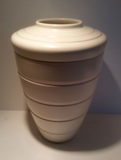 Keith Murray KEITH MURRAY LARGE MOONSTONE SHOULDER VASE (item #1622)