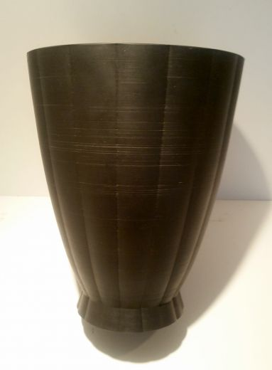 Keith Murray A RARE KEITH MURRAY BLACK BASALT LARGE VASE (item #1623)