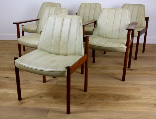 chairs MID CENTURY MODERN DESIGN ROSEWOOD DINING CHAIRS DESIGNED BY SVEN IVAR DYSTHE (item #1668)