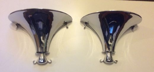 art deco lighting A PAIR OF ART DECO WALL SCONCES FROM CLARIDGES HOTEL MAYFAIR LONDON (item #1684)