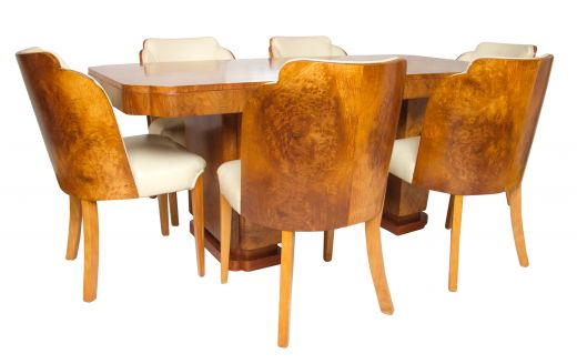 art deco dining table and chairs ART DECO CLOUD DESIGN DINING TABLE AND CHAIRS (item #1729)