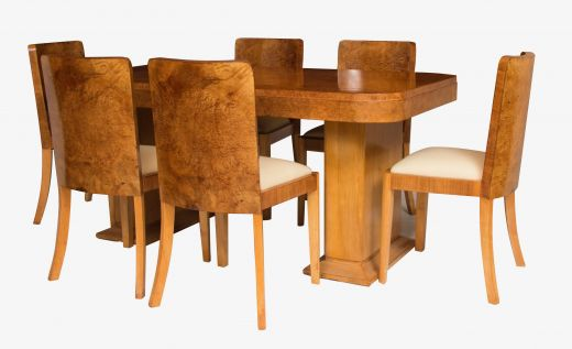 art deco dining table and chairs HARRY AND LOU EPSTEIN ART DECO DINING SET (item #1755)