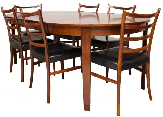 DINING TABLES ROSEWOOD DINING TABLE AND CHAIRS (item #1769)