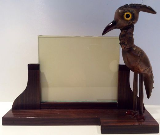 Bakelite ART DECO YZ NUT BIRD PHOTO FRAME (item #1782)