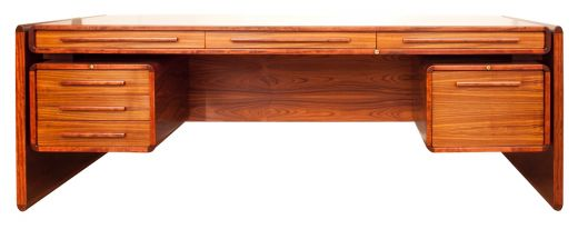 desks MID CENTURY ROSEWOOD EXECUTIVE DESK (item #1840)