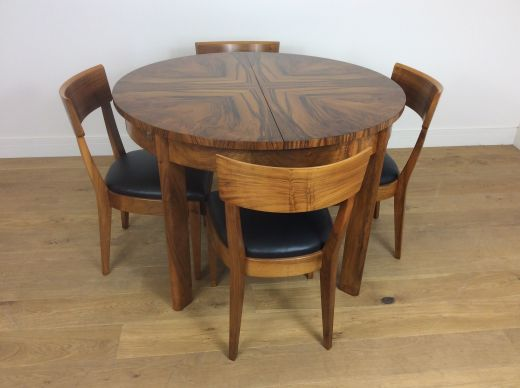 art deco dining table and chairs ART DECO DINING TABLE AND CHAIRS (item #1857)