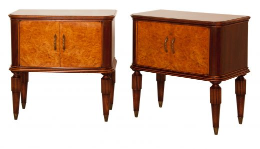 BEDSIDE TABLES MID CETURY ITALIAN NIGHTSTANDS (item #1860)