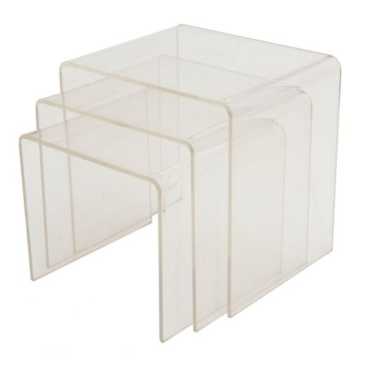 ART DECO TABLES ART DECO LUCITE NESTING TABLES (item #1870)