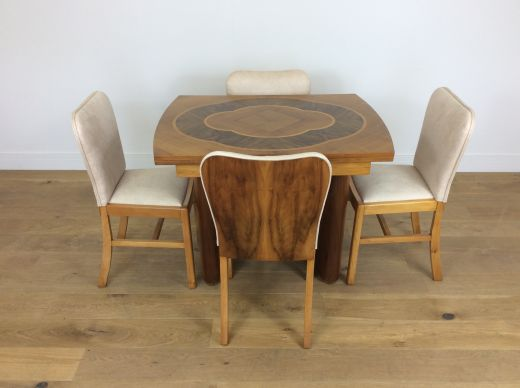 ART DECO DINING TABLE AND CHAIRS ART DECO DINING TABLE AND FOUR CHAIRS (item #1879)