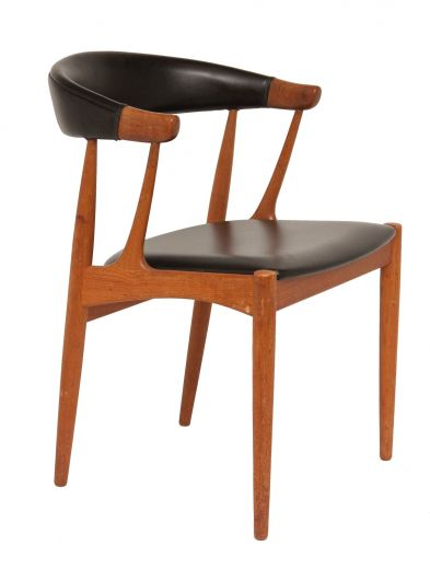 CHAIRS MID CENTURY TEAK AND LEATHER CHAIR BY JOHANNES ANDERSEN (item #1897)