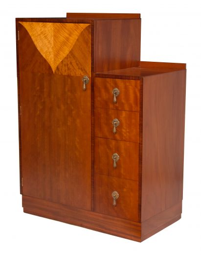 art deco wardrobes ART DECO TALL BOY (item #1927)