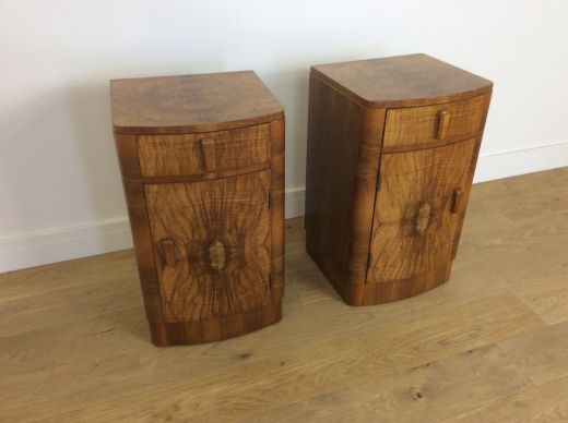 ART DECO BEDSIDE CABINETS A PAIR OF ART DECO BEDSIDE CABINETS (item #1952)