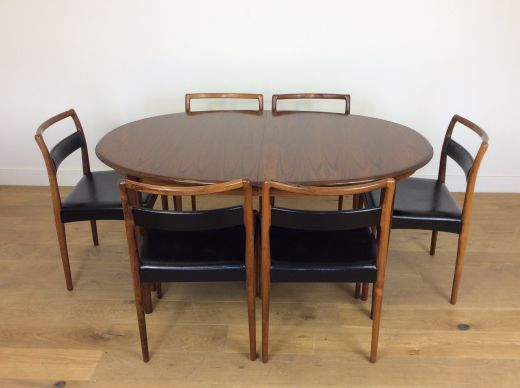 dinning tables MID CENTURY DINING TABLE AND CHAIRS (item #1960)