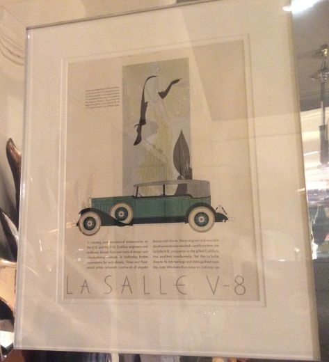 art deco art ART DECO MOTOR CAR PRINT (item #1986)