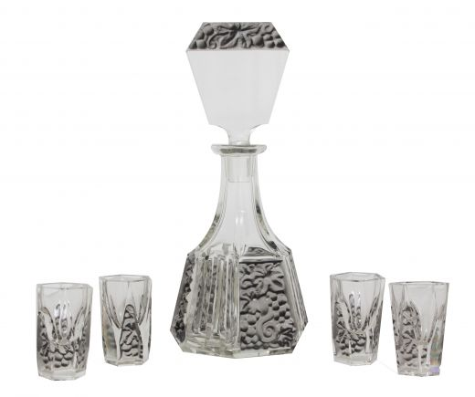 art deco glass ART DECO LIQUOR SET (item #1989)