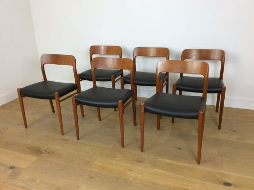 chairs MID CENTURY NIELS O MOLLER TEAK DINING CHAIRS (item #1995)