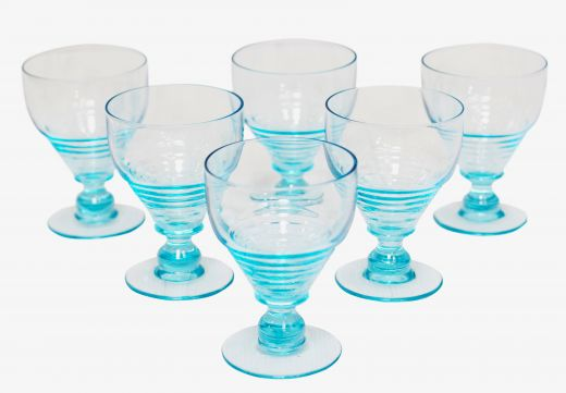 ART DECO GLASS art deco uranium glasses (#2016)