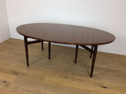 dinning tables Mid Century extendable rosewood dining table by Arne Vodder (item #2070)