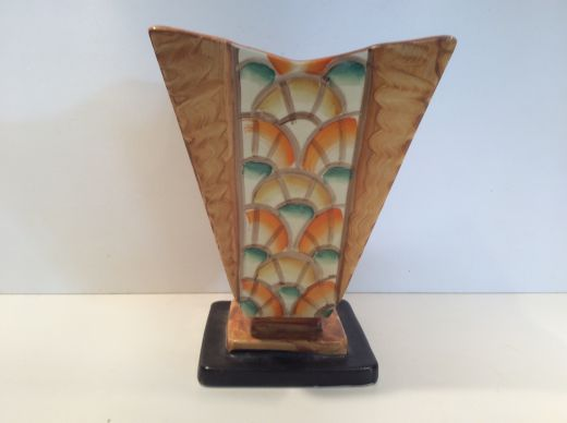 Myott Hand painted art deco vase by Myott and son (#2100)