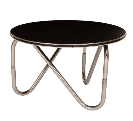 tables Black Ash & Chrome Coffee Table (#2104)
