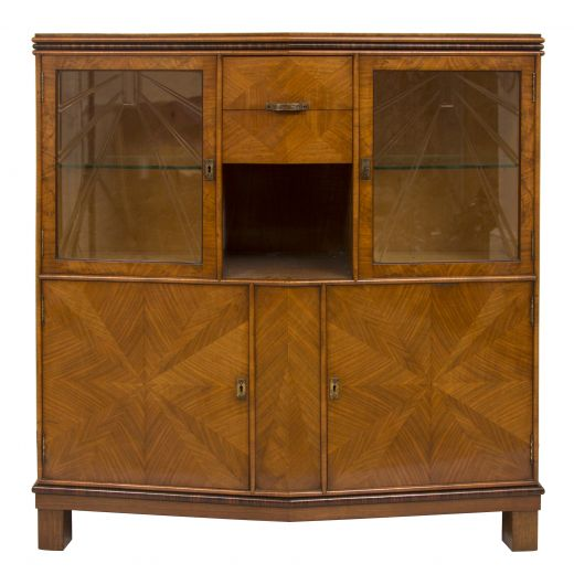 art deco display cabinets Art deco display cabinet bookcase (item #2108)