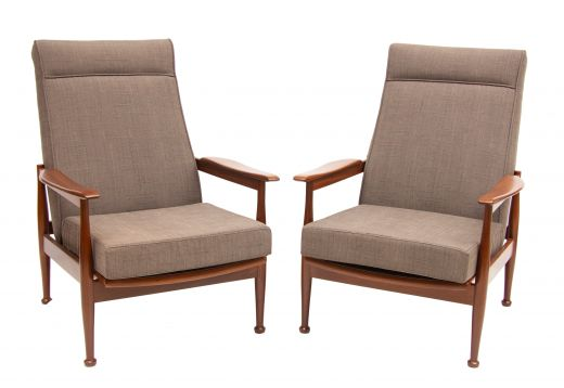 chairs Mid century reclining armchairs (item #2118)