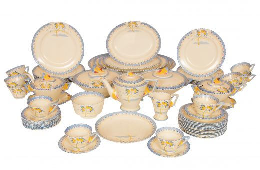 Burleigh Ware Art Deco Tea & Dinner Service by Burleigh Ware (item #2137)
