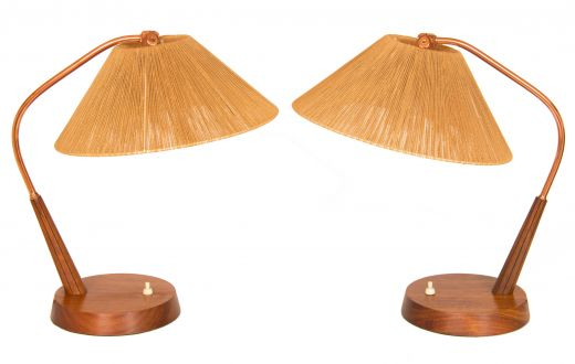 lighting Mid century table lamps (item #2141)