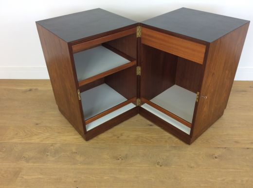 cocktail cabinets Mid century rosewood dry bar (item #2147)