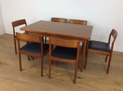Dining sets Mid century Moller dining table and chairs (item #2150)