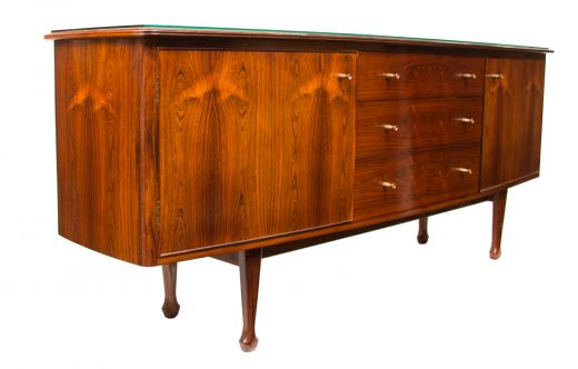 sideboard credenzas Midcentury Bow Front Sideboard by Andrew J Milne (item #2168)