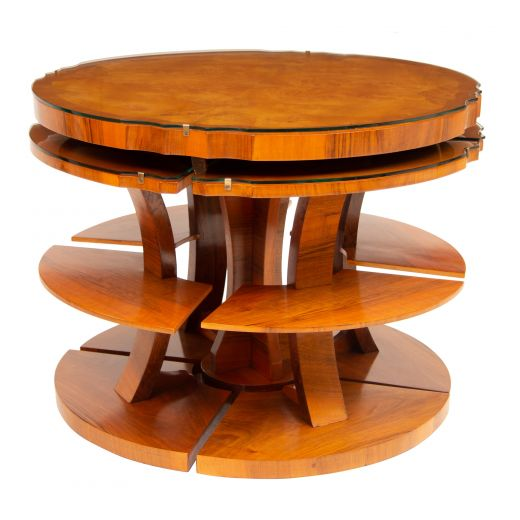 art deco tables Art deco nest of tables (item #2191)