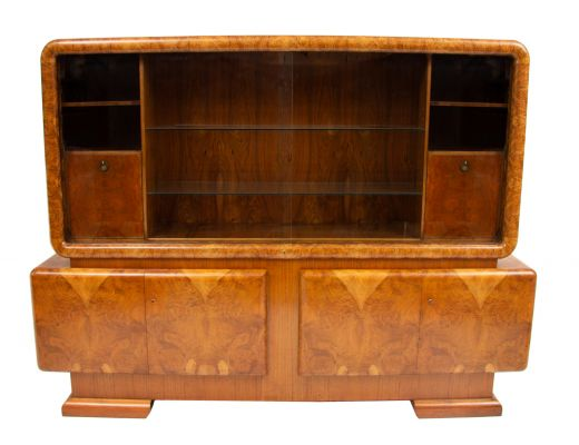 art deco display cabinets Art deco bookcase cabinet (item #2214)